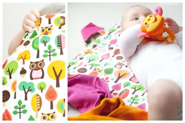 millemarille 1215 Wickelunterlage modern Owls pink