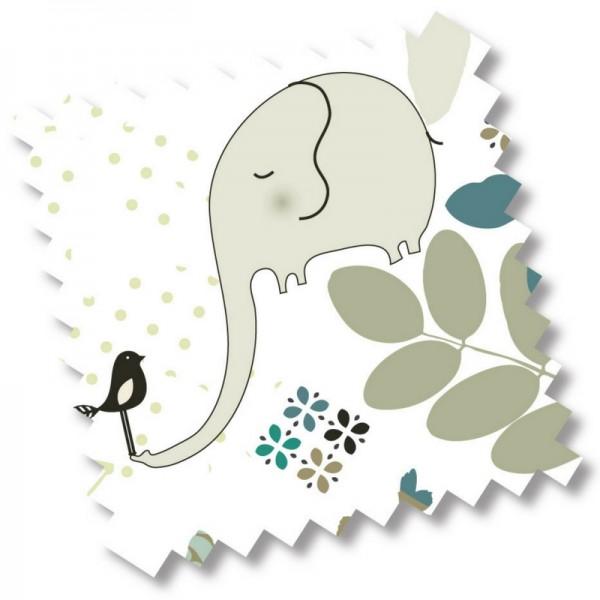 millemarille | Ersatzbezug Wickelauflage 50x70cm - ELEGANT ELEPHANT