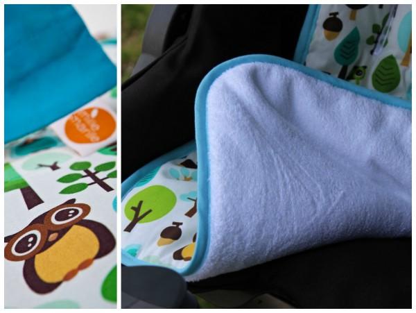 millemarille | Buggysitzeinlage | Kinderwagenauflage - MODERN OWLS BLUE