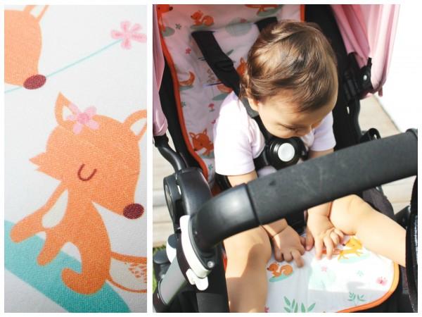 millemarille | Buggysitzeinlage | Kinderwagenauflage - SWEET FOXES