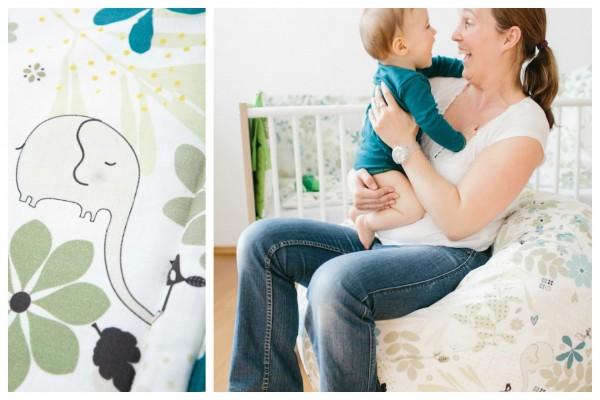 Sitzkissen Mama mit Baby