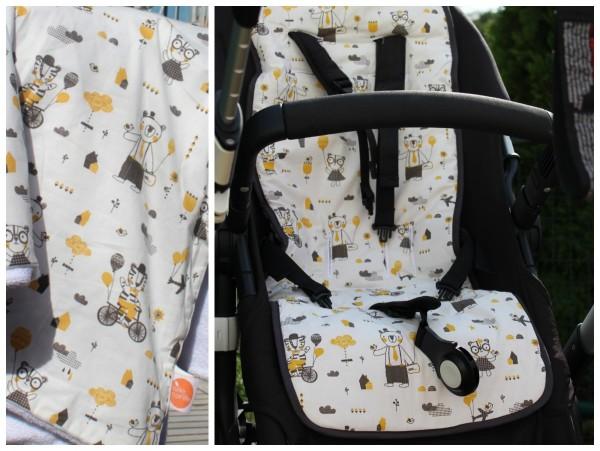 millemarille | Buggysitzeinlage | Kinderwagenauflage - HIPSTER FRIENDS